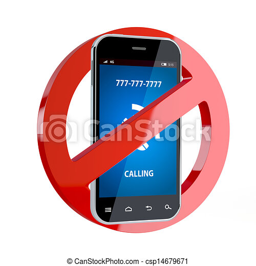 No cell phone sign - csp14679671
