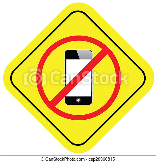 no cell phone sign - csp20360815