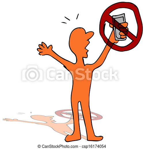 no cell phone signal an image of a man not able to use his rh canstockphoto com Water Clip Art Water Clip Art