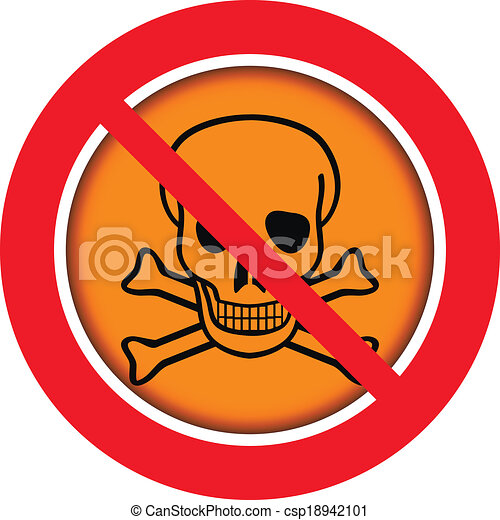 No Chemical Weapons Sign On White Background