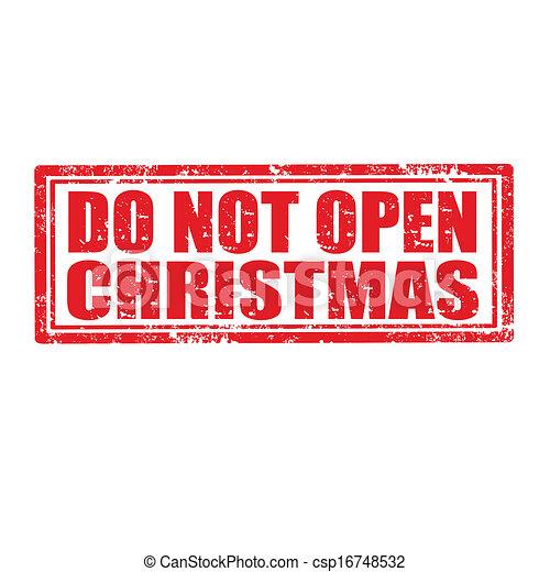No abras el sello navideño - csp16748532