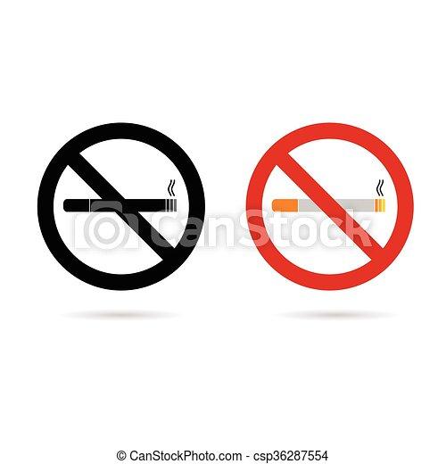 no cigarette sign illustration in colorful