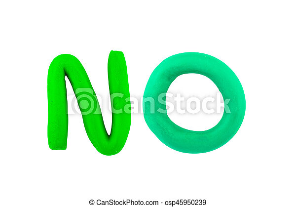 no ,clay on the white background - csp45950239