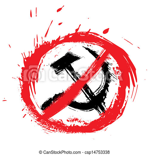 No communism symbol - csp14753338