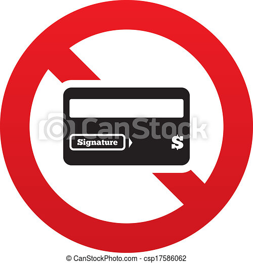 no credit card sign icon debit card symbol virtual money clip rh canstockphoto com credit card clip art images credit card clipart png