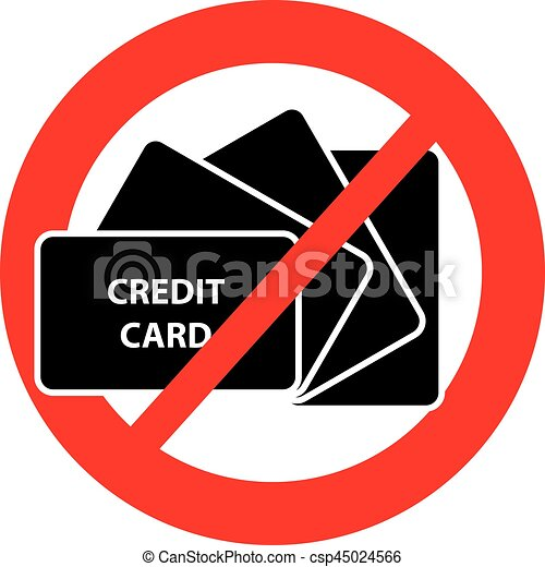 No credit card symbol on white background
