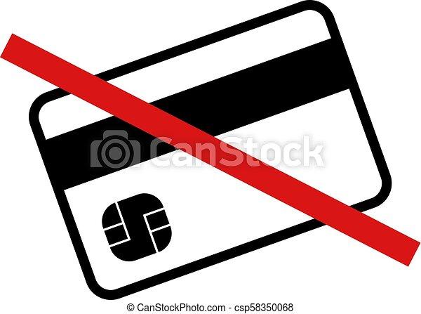 no credit cards symbol