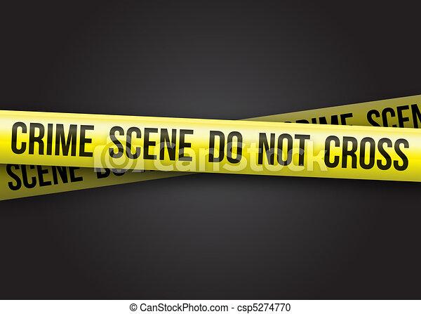 La escena del crimen no se cruza - csp5274770