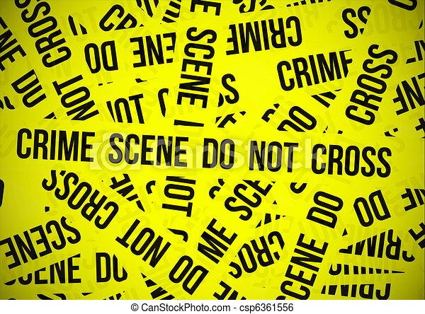 La escena del crimen no se cruza - csp6361556