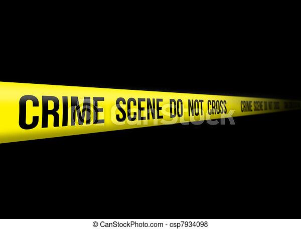 La escena del crimen no se cruza - csp7934098