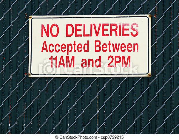no deliveries sign - csp0739215