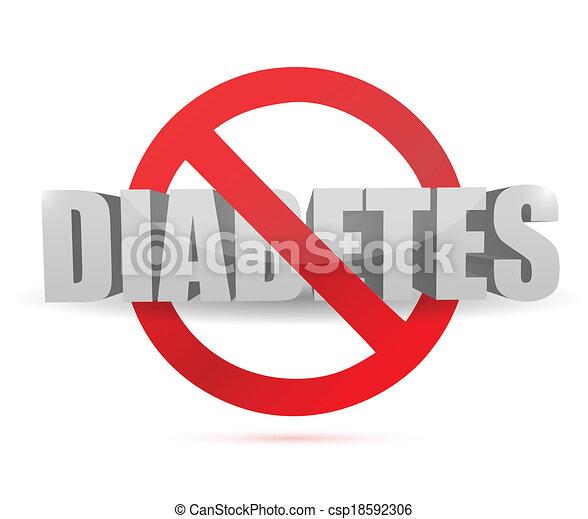 no diabetes sign illustration design - csp18592306