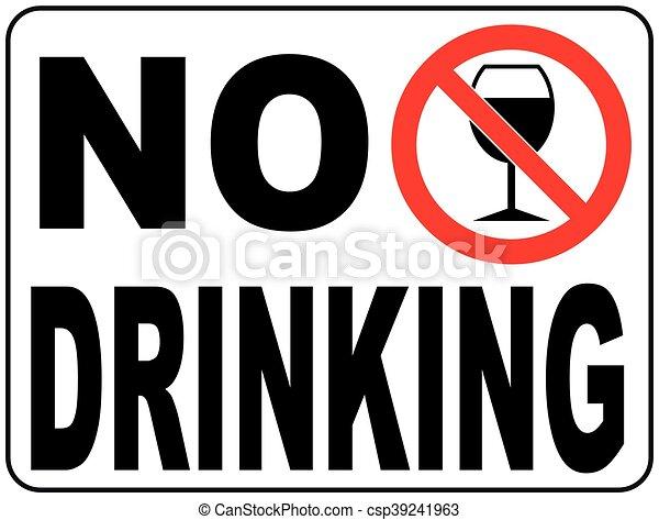 No drinking sign, vector illustration