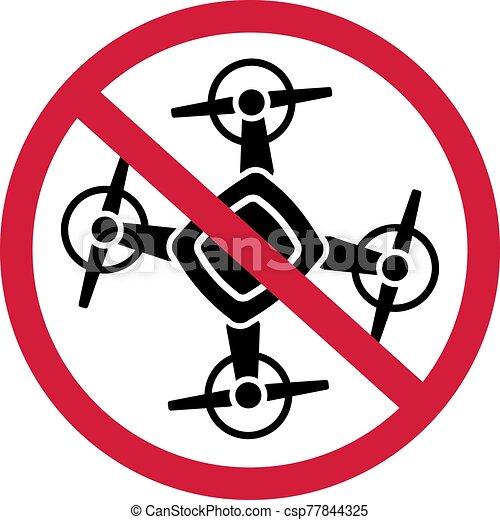 No Drone Zone Sign Icon - csp77844325