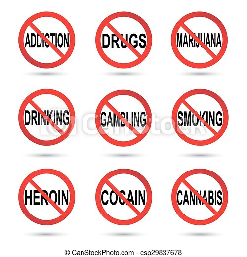 No drugs, smoking and alcohol sign