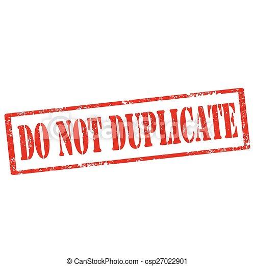 No duplices el sello - csp27022901
