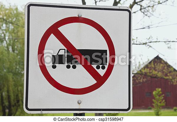 No entrance for trucks sign - csp31598947