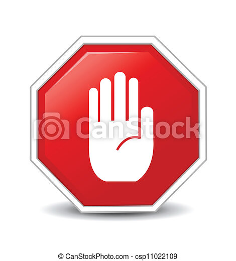 No entry hand sign  - csp11022109