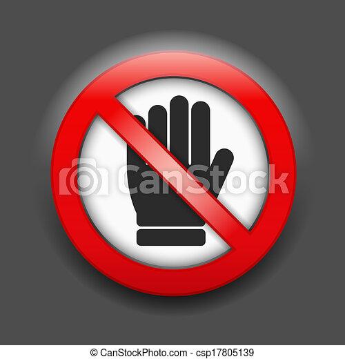 No Entry Sign - csp17805139