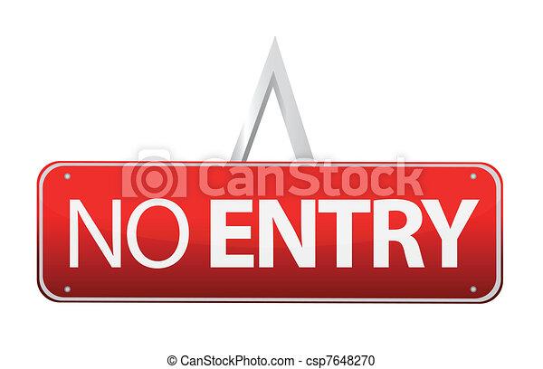 No entry sign illustration design - csp7648270