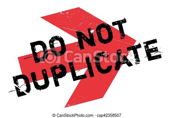 No duplices el sello - csp42358507