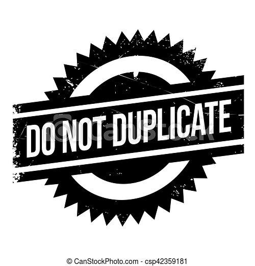 No duplices el sello - csp42359181