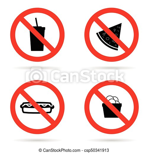 no fast food sign set illustration in red color vector clip art rh canstockphoto ca no food clipart free no food sign clipart