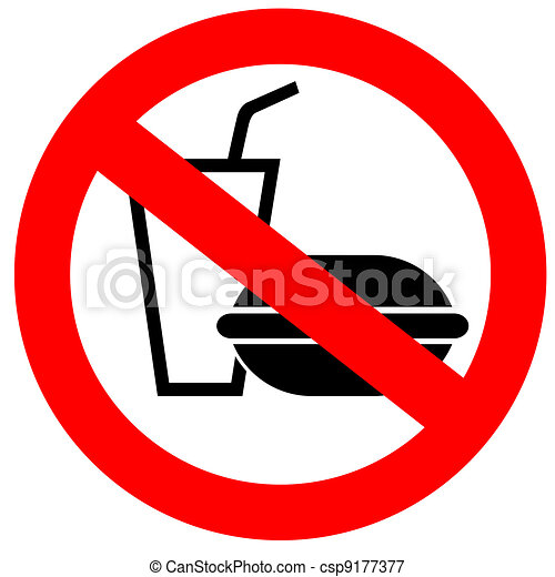 no fast food sign stock illustrations search eps clipart drawings rh canstockphoto com  say no to junk food clipart