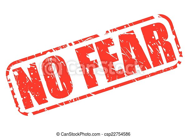 No fear red stamp text - csp22754586