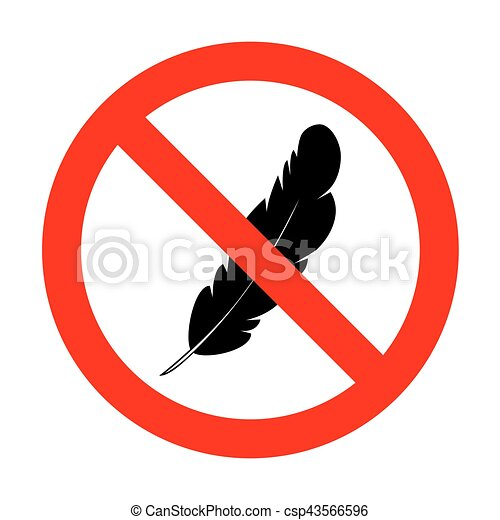 No Feather sign illustration. - csp43566596