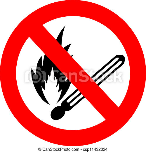 No fire vector sign - csp11432824