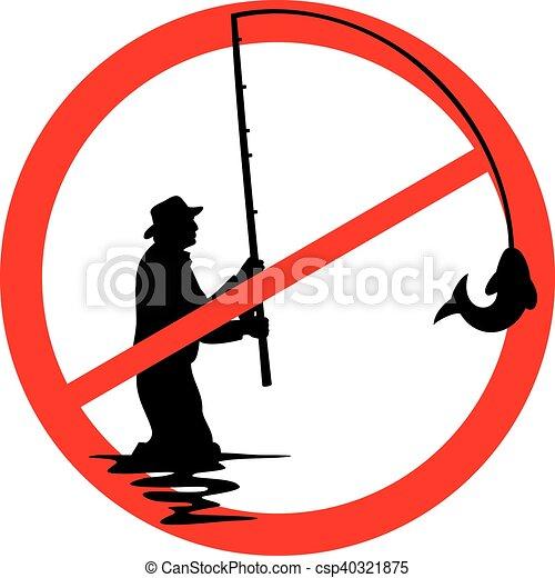 no fishing sign - csp40321875