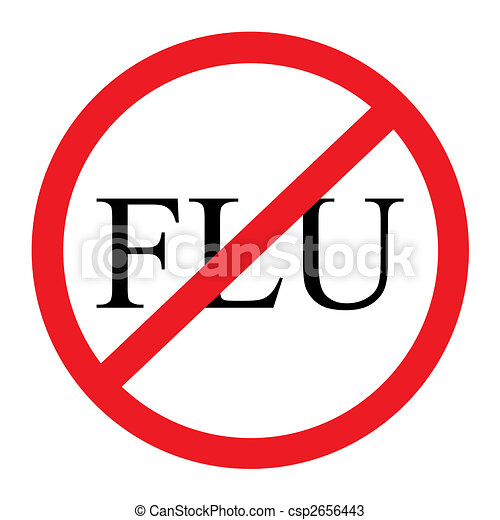 no flu graphic a red and black no flu graphic with a rh canstockphoto com Funny Flu Shot flu shot clip art images