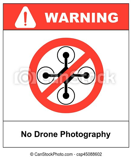No Fly Drones Sign Zone Drone Isolated On White Background Vector Illustration