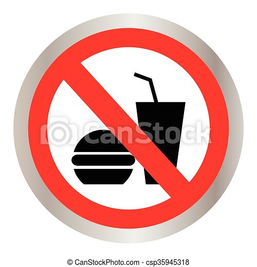 no food allowed symbol no eating no food or drink area vector rh canstockphoto com no food or drink sign clipart