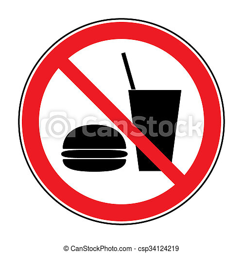 no food and drink - csp34124219