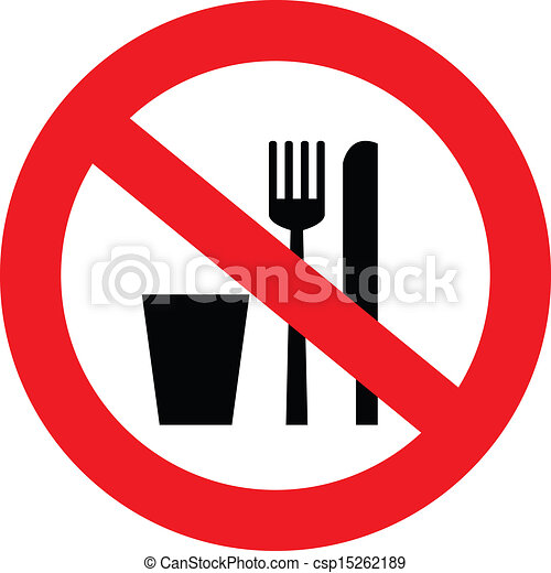 no food and drink sign a sign showing no food and drink vector rh canstockphoto ie no food allowed clipart no food sign clipart