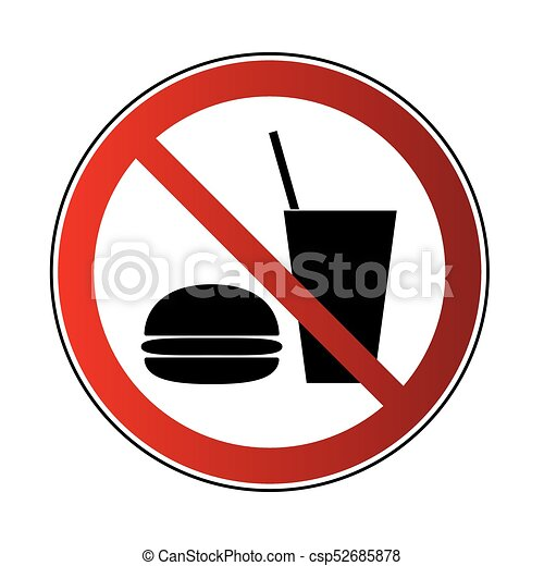 no food no drink sign no drink no food sign prohibited sign rh canstockphoto com no food clipart black and white no food allowed clipart