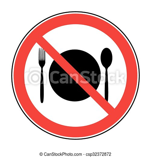 no food sign do not eat icon cutlery symbol knife and fork no rh canstockphoto com no food clipart black and white no junk food clipart