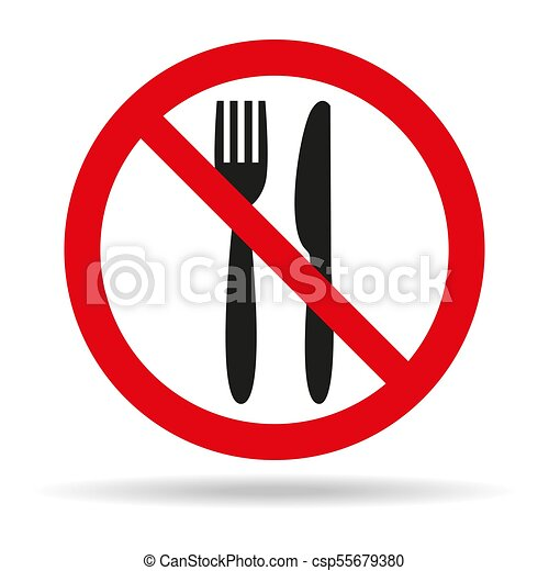 no food sign on white background vector illustration vector rh canstockphoto co uk  no food sign clipart