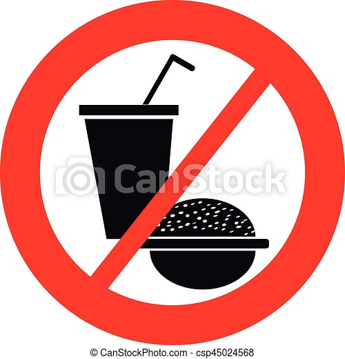 no food symbol on white background vector illustration clip art rh canstockphoto com no eating clipart no junk food clipart