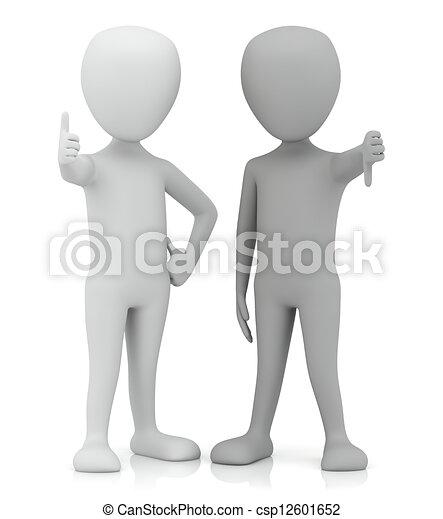 3D personas pequeñas - sí y no. - csp12601652