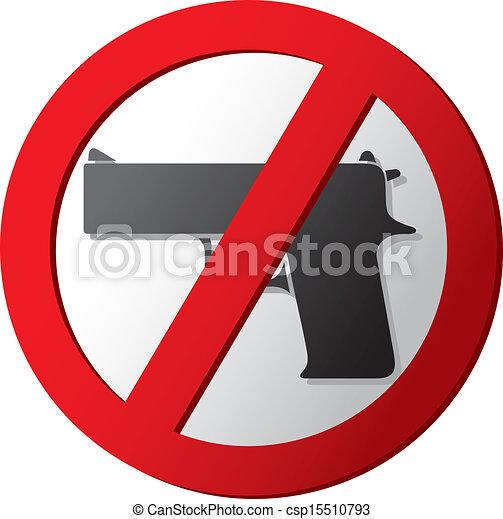 no gun sign - csp15510793