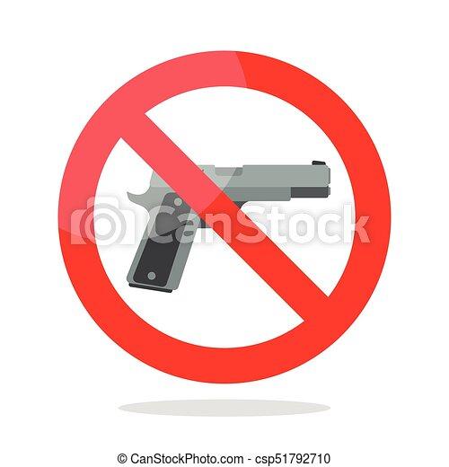 No Gun Symbol Vector Illustration