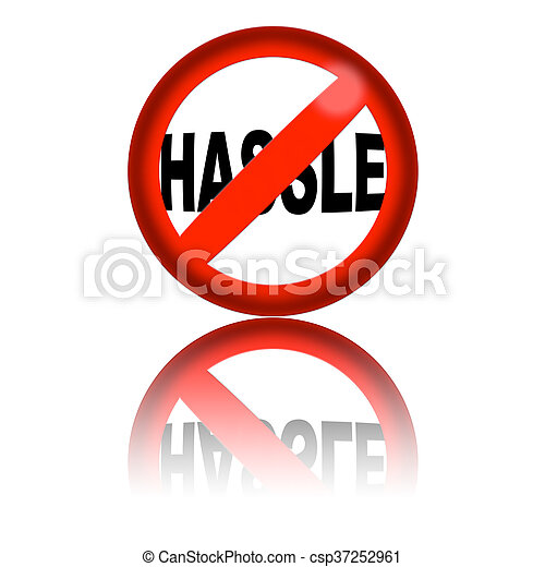 no hassle sign 3d rendering 3d sphere no hassle sign with stock rh canstockphoto com
