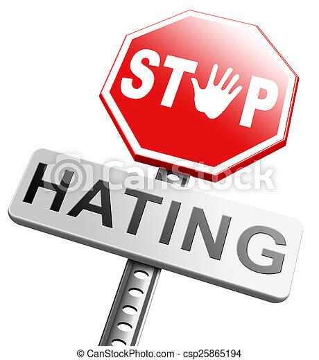 no hate - csp25865194