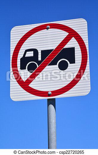 No heavy vehicles traffic sign - csp22720265