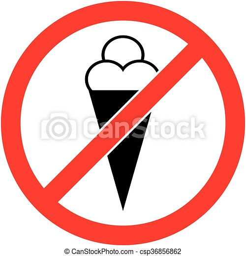 no ice cream food eat prohibited symbol vector no ice clip rh canstockphoto com no food allowed clipart no eating clipart