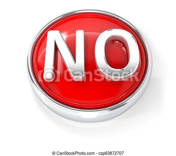 No icon on glossy red round button - csp63872707