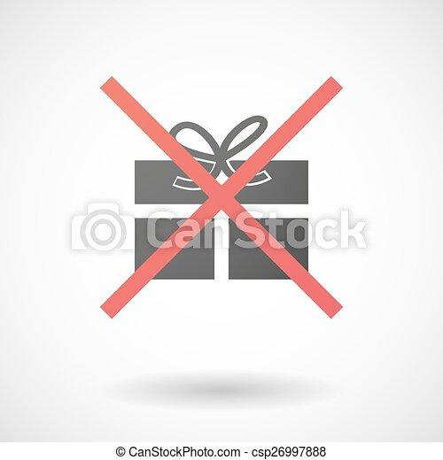 No se permite ícono con un regalo - csp26997888